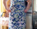 Yeni doğal elbise 48-50 pamuk viskon