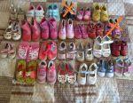 Παπούτσια για κορίτσια από 14 έως 18 cm στη σόλα