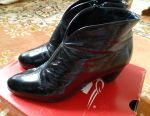 Leather ankle boots. Germany