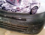 Renault Kangoo II 2008, bara de protecție față, grătar