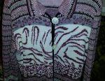 Women's knitted coat (warm jacket)