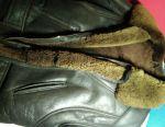 Sheepskin coat dark brown