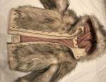 Winter children's jacket, fur p 128-134