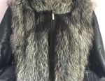 Jacket natural leather fur printed fox times 42.46
