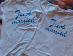 T-shirts for newlyweds with a date and a surname. 2 pcs