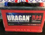 Νέα μπαταρία URAGAN 75 amp