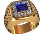 Σκουλαρίκι χρυσού δαχτυλίδι σημάτων του Μεν. Νέα