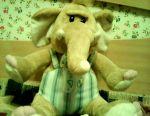 Soft toy elephant