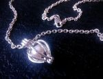 Pearl pendant on a silver chain