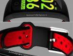 🔥 Smart Βραχιόλι ρολογιών Q6S Κόκκινο IP68 3D Νέο