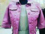 Стильная куртка из натур.кожи
