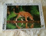 Puzzles Leopard at the waterfall 68x48cm