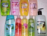 Shower gels of 250, 700 and 200 ml