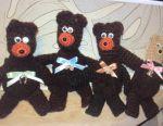 Iepuri tricotate și urși