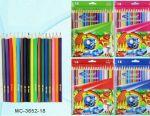 Олівці кольорові 18