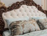 Bed with soft headboard Thrissia Kor