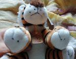 Soft toy tiger 17 cm
