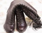 Boots with lacing, heel, Respect 39, new, leather