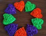 Fluorescent Heart Magnets