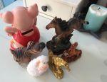 🦄 Figurine pentru animale de jucărie - cai + banci de porc