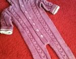 Knitted overalls for children
