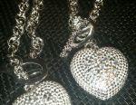Brățară și set de lanțuri de argint cu pandantiv