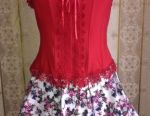 Elegant red corset, river 46-48, t / water as a gift