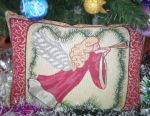New Year's decorative pillow