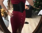 New belt corset on a wide elastic band
