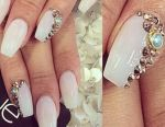 Nail extension form 'ballerina' in Khimki