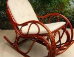 Κουνιστή καρέκλα με λεπτό μαξιλάρι