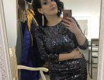 Fashionable shiny sequin dress 46 size