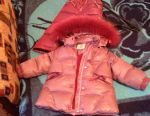 Winter set down jacket and overalls for 2-3 grams