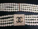 New elastic pearl belt