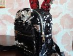 Sequin Backpack with Ears