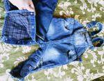 Denim warmed overalls for children