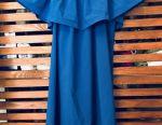 Summer dress of deep blue color