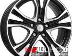 Wheels KiK KC673 7x17 PCD 5x114.3 ET 39 DIA 60.10 Diamond Black
