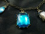 Necklace new with blue stones