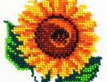 Set for embroidery with beads Sunflower.