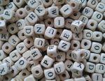 Beads Letters. English Alphabet