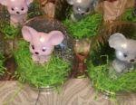 Handmade soap mice