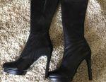 Μπότες υψηλές, νέες, δέρμα p37 Ιταλία.