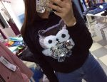 Hoodie with sequins as an owl ?