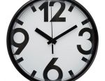 YUKKE Wall clock, white, black Size 25 cm