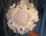 In the presence of a brooch bouquet