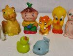 Rubber toy USSR Cipollino Dolmatin Tweety