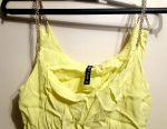 Lemon-colored top. Size 40-42 (xs)