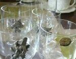 Wine glasses, set of 6 pieces. Bohemia. Czech