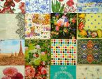 Decoupage napkins paper a set of crafts gifts